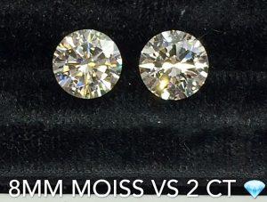 Moissanite and natural diamond comparison